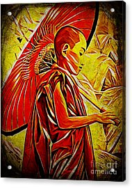 Young Monk Acrylic Print