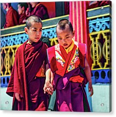 Young Monks - Buddies Acrylic Print