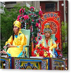 Acrylic Print featuring the photograph Young People Dreesed In Traditional Chinese Robes by Yali Shi
