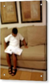Young Reader Acrylic Print