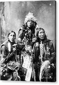 Young Sioux Men, 1899 Acrylic Print by Granger
