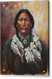 Young Sittingbull Acrylic Print by Harvie Brown