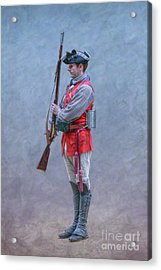 Acrylic Print featuring the digital art Young Soldier With Rifle by Randy Steele