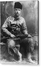 Young Teddy Roosevelt Acrylic Print by War Is Hell Store