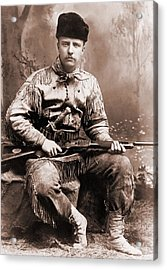 Young Theodore Roosevelt Dressed Acrylic Print by Everett