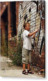 Young Vandal Acrylic Print by Gordon Dean II