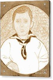 Young Winston Churchill 2 Acrylic Print by Richard W Linford