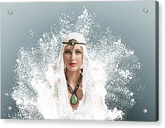 Young Woman Arabic Style Fashion Look Acrylic Print by IPolyPhoto Art