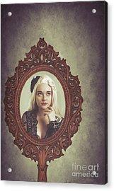 Young Woman In Mirror Acrylic Print