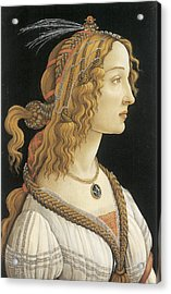 Young Woman In Mythical Guise Acrylic Print by Sandro Botticelli