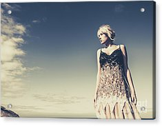 Young Woman Standing On The Beach Acrylic Print by Jorgo Photography - Wall Art Gallery