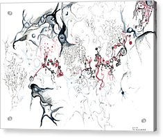 Your Brain On Surrealism Acrylic Print by Regina Valluzzi