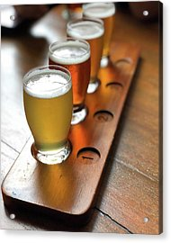 Your Choice Of Four Draft Beers From Acrylic Print by Arya Swadharma