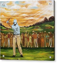 Acrylic Print featuring the painting Your Golf by Emery Franklin