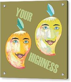 Your Highness B Acrylic Print by Thecla Correya