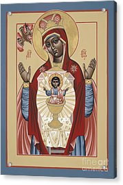 The Black Madonna Your Lap Has Become The Holy Table 060 Acrylic Print