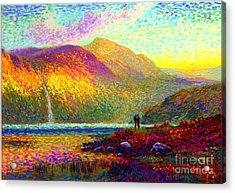 Your Love Colors My World, Modern Impressionism, Romantic Art Acrylic Print by Jane Small