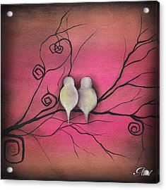 Your Love Is Enough  Acrylic Print by  Abril Andrade Griffith