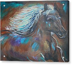 Acrylic Print featuring the painting Your Majesty by Leslie Allen