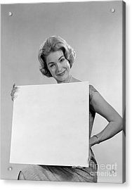 Your Message Here, C.1960s Acrylic Print