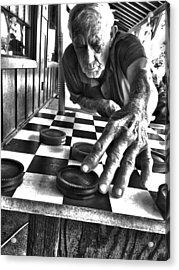 Your Move Dad Bw Art Acrylic Print