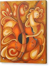 Your Music My Inspiration Acrylic Print by Marta Giraldo