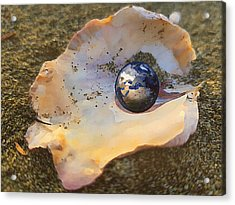 Acrylic Print featuring the digital art Your Oyster by Shelli Fitzpatrick