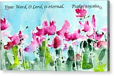 Your Word O Lord Acrylic Print