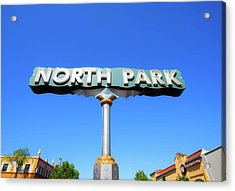 Welcome To North Park Acrylic Print
