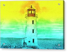 You're My Beacon Peggy's Cove Lighthouse Acrylic Print by Betsy Knapp