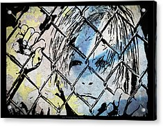 Youth Behind The Fence Acrylic Print by Nicole Frischlich