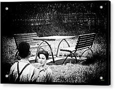 Youthful Park Attendents Acrylic Print by KJ DePace