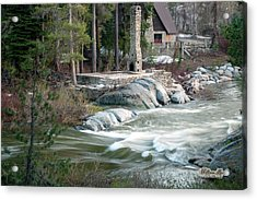 Acrylic Print featuring the photograph Yuba River At Rainbow Lodge by William Havle