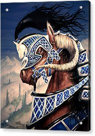 Acrylic Print featuring the painting Yuellas The Bulvaen Horse by Curtiss Shaffer