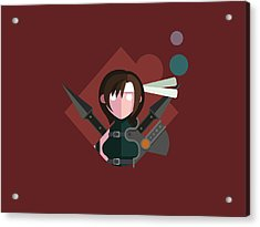 Acrylic Print featuring the digital art Yuffie by Michael Myers
