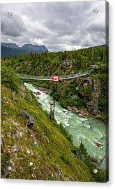 Yukon Suspension Bridge Acrylic Print