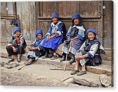 Yunnan Women Acrylic Print