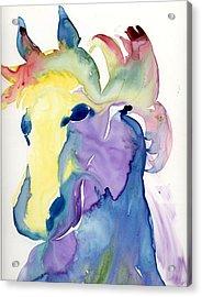 Yupo Horse Acrylic Print by Janet Doggett