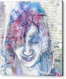 Yupo Portrait Acrylic Print by Vanessa Baladad