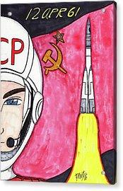 Yuri Gagarin Acrylic Print