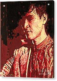 Yusaku Matsuda Acrylic Print by David Lloyd Glover