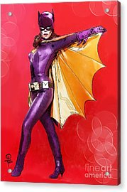 Yvonne Craig's Batgirl Acrylic Print by Joseph Burke