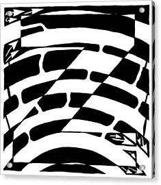 Z Maze Acrylic Print by Yonatan Frimer Maze Artist