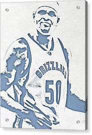Zach Randolph Memphis Grizzlies Pixel Art Acrylic Print