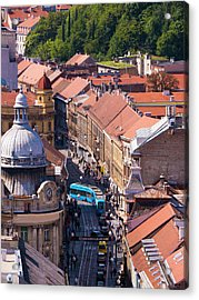 Zagreb Afternoon Acrylic Print by Rae Tucker