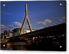 Zakim Bridge And Boston Garden At Sunset Acrylic Print