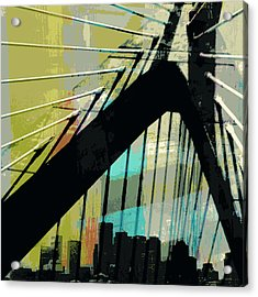 Zakim Bridge Boston V2 Acrylic Print by Brandi Fitzgerald