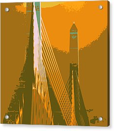 Zakim Bridge Boston V6 Acrylic Print by Brandi Fitzgerald