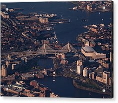 Zakim Bridge In Context Acrylic Print by Rona Black