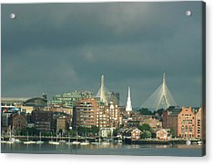 Acrylic Print featuring the photograph Zakim Bunker Hill Bridge by Carol Kinkead